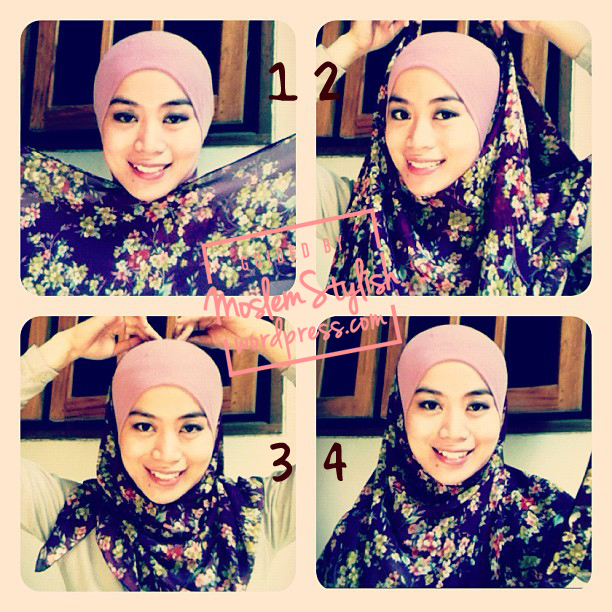 tutorial hijab for chiffon shawl
